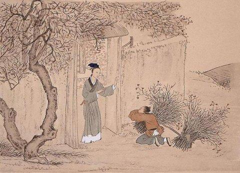 中华传统文化经典《二十四孝》之曾参啮指痛心