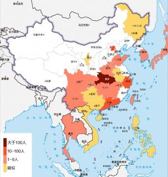 截至1月22日,新型冠状病毒肺炎疫情国内确诊443例,死亡9例